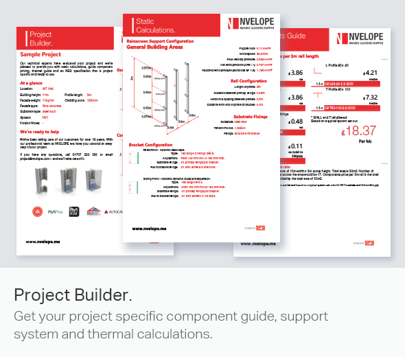Project Builder for Rainscreen Cladding Systems | NVELOPE